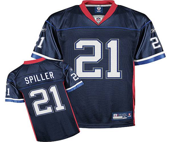 b3eabacf7 Bills  21 C.J. Spiller Dark Blue Stitched NFL Jersey