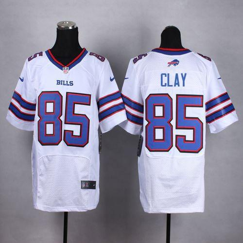promo code d3040 7cc31 Nike Bills #85 Charles Clay White Men's Stitched NFL New ...